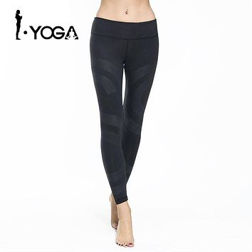 Fitness Women's Sports Leggings Running Yoga Pants Slim Fit Elastic Waist Spandex Breathable Quick Dry Tights Gym Sportswear