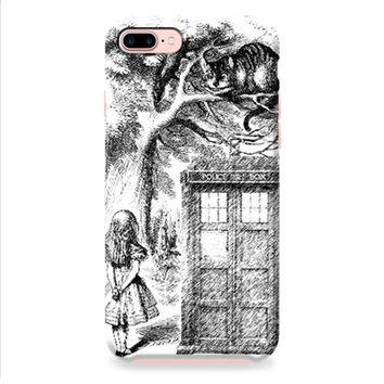 Alice In Wonderland and Cat doctor who box iPhone 8 | iPhone 8 Plus Case