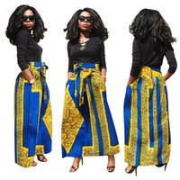 African Blank Top and Printed Maxi Skirt