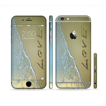 The Love beach Sand Sectioned Skin Series for the Apple iPhone 6
