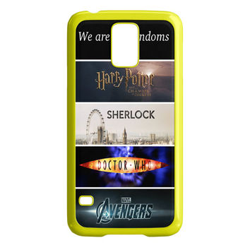 Fandoms Harry Potter Sherlock Doctor Who Avengers Samsung Galaxy S5 Case