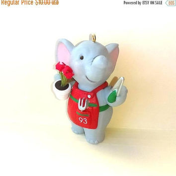 Christmas Sale Hallmark Christmas Ornament - Elephant Ornament - Gardenings Figurine - Christmas Gift Idea - Christmas Present