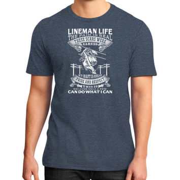 LINEMAN LIFE District T-Shirt (on man)