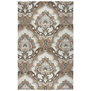 Leone Collection Tufted Area Rug, 8' x 10', Mocha/Ivory/Brown By Rizzy Home