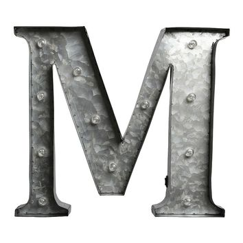 Apothecary LED Galvanized Letter Marquee Wall Decor