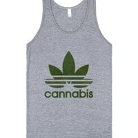 Cannabis (tank)-Unisex Athletic Grey Tank