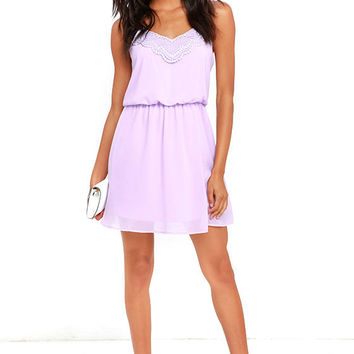 I'll Be There for You Lavender Lace Dress