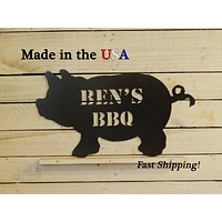 Customized BBQ Pig Sign