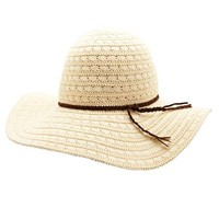 Wide Brimmed Crochet Floppy Hat