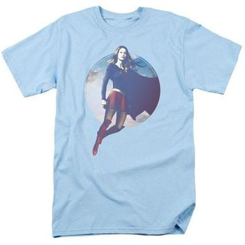 DCCKM83 Supergirl - Cloudy Circle Short Sleeve Adult 18/1