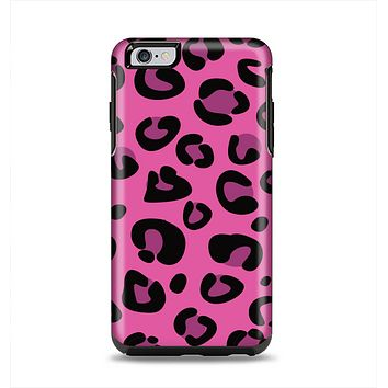 The Pink Vector Cheetah Print Apple iPhone 6 Plus Otterbox Symmetry Case Skin Set