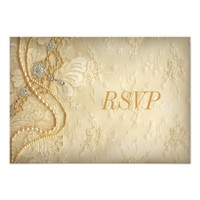 Vintage Lace and Pearls RSVP