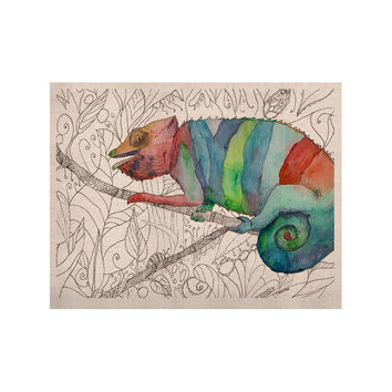 "Catherine Holcombe ""Chameleon Fail"" KESS Naturals Canvas (Frame not Included)"