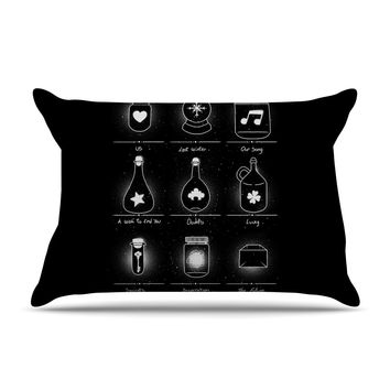"Tobe Fonseca ""Collector"" Black Illustration Pillow Case"