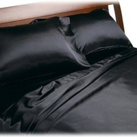 Divatex Home Fashions Royal Opulence Satin Full Sheet Set, Red