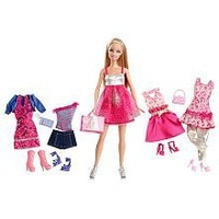 Exclusive Barbie KidPicks Fashion Assortment with Barbie Doll - Party Time