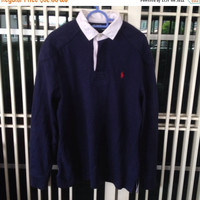 sale 30% Vintage Polo Ralph Lauren Rugby Shirt 90s Sport RL Size M