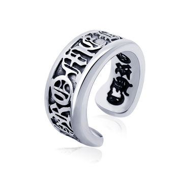 Gift Stylish New Arrival Shiny Jewelry Vintage Roman Alphabet Titanium Accessory Ring [6542637443]