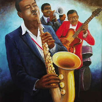The Musicians Music Poster by Romeo Downer