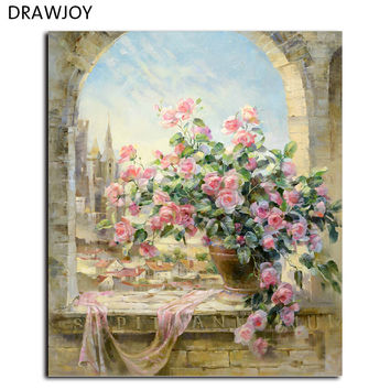 DRAWJOY Frameless Pictures Wall Art DIY Painting By Numbers Hand Painted Oil On Canvas Wall Painting Home Decor G134 40*50cm