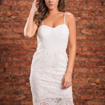 Seduced By Lace Dress, Ivory