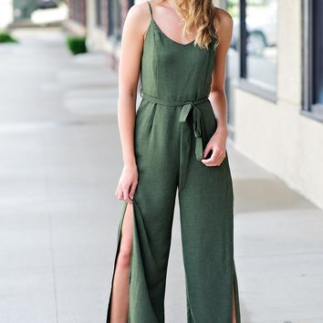 * Picture Perfect Jumpsuit : Olive