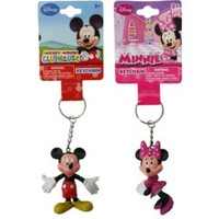 1 X Disney Mickey and Minnie Mouse Figure 3D Keychain Set
