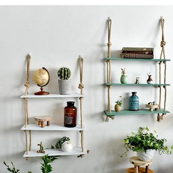 Vintage Decorative Hanging Wall Shelves