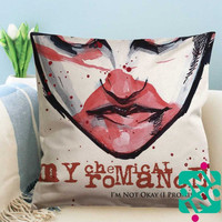 My Chemical Romance I'm Not Okay (I Promise) Zippered Pillow Case, Cushion Case, Pillow case