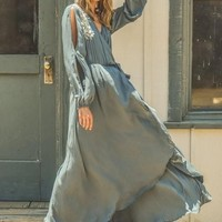 The Georgie Embroidered Wrap Dress