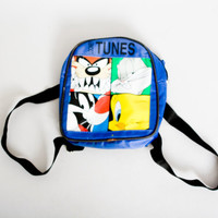 90s vintage Looney Tunes Bugz Bunny Tweety Taz Sylvester Cat Mini Backpack