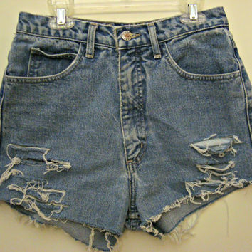 High Waisted Guess Shorts Vintage Denim jean by shortyshorts