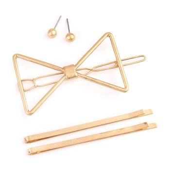 Brass Metal Hair Pin, Earring Set