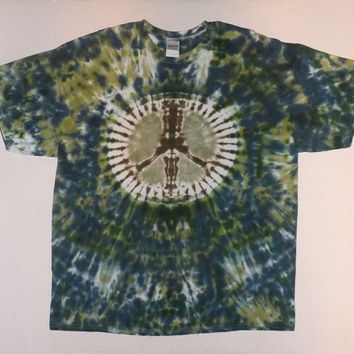 2XL - Tie Dye Peace Sign T-Shirt
