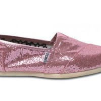 TOMS Women's TOMS CLASSICS CASUAL SHOES 7 (PINK GLITTER)