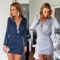 New Fashion Summer Sexy Women Mini Dress Casual Dress for Party and Date = 4721798212