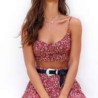 Fall For You Two Piece Set Red