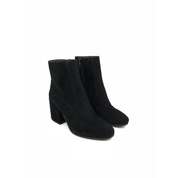 Black Suede Booties - Lucky Brand