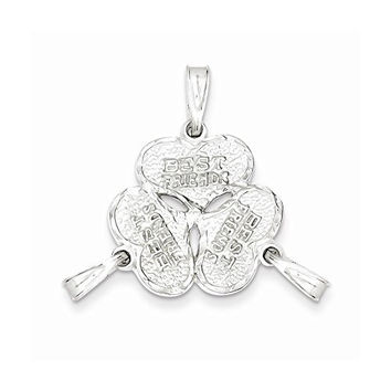 Sterling Silver 3-piece Best Friends Charm, Best Quality Free Gift Box Satisfaction Guaranteed