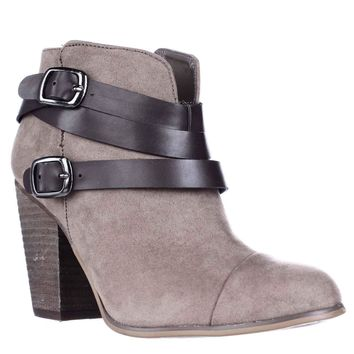 Carlos by Carlos Santana Helene Ankle Booties, Grey, 5.5 US / 35.5 EU
