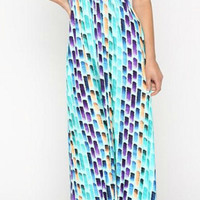 After the Rain Maxi Dress - Mint and Navy
