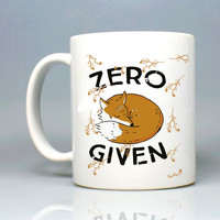 Zero Sleep Fox Given Mug - Mug / Cup