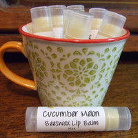 Cucumber Melon Beeswax Lip Balm - One Tube