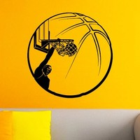 Basketball Player Sport Wall Decal Vinyl Sticker Ball Game Gym Wall Decor Home Interior Design Art Mural Boy Bedroom Dorm Z740
