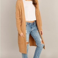 Novelty Knit Duster Cardigan