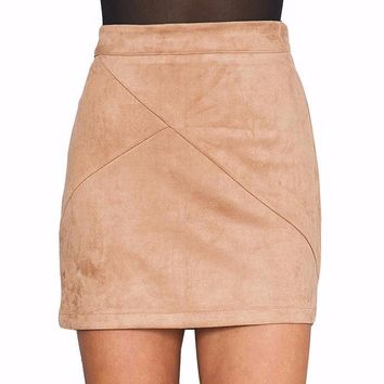 Luanne Suede Mini Skirt
