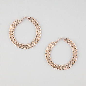 Full Tilt Chain Link Hoop Earrings Gold One Size For Women 26181562101