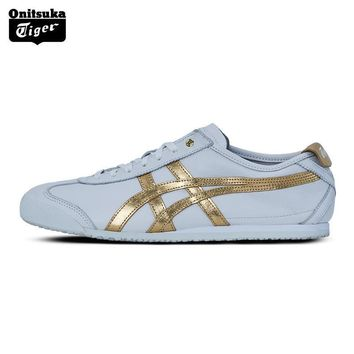 PEAPON 2017 New Arrival ONITSUKA TIGER MEXICO 66 Men's Shoes Breathable Leather Woman Sport Shoes White Color Sneakers D508K