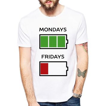 Mondays Fridays Battery T-Shirts - Men's Top Tee