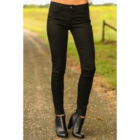 Meet In The Middle Jeggings-Black